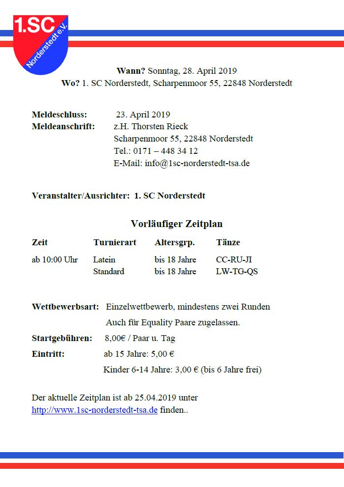 Breitensportwettbewerb beim 1. SC Norderstedt